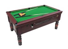 BRAND NEW 7 ft x 4 ft ROSETTA TRADITIONAL POOL TABLE SLATE BED COIN OP MATCH QUALITY